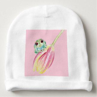 Gorro Para Bebê Sapo bonito no rosa