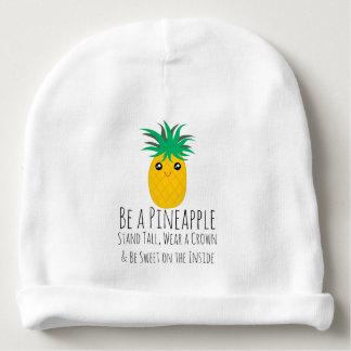 Gorro Para Bebê Seja um suporte do abacaxi alto seja doce