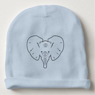 Gorro Para Bebê Silhueta da cara do elefante