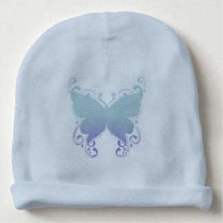 Gorro Para Bebê Silhueta Pastel da borboleta - Beanie do bebê