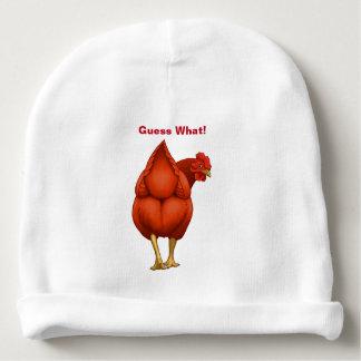 Gorro Para Bebê Suposição engraçada que galinha do vermelho do