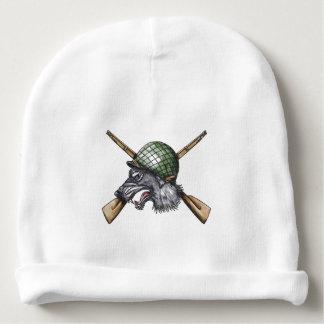 Gorro Para Bebê Tatuagem cruzado capacete dos rifles do lobo