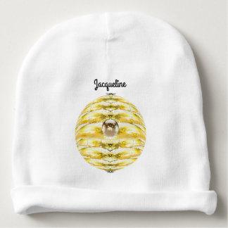 Gorro Para Bebê Teste padrão da colmeia da abelha da bola do disco