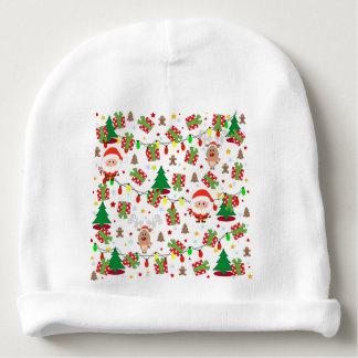 Gorro Para Bebê Teste padrão do papai noel e do Rudolph