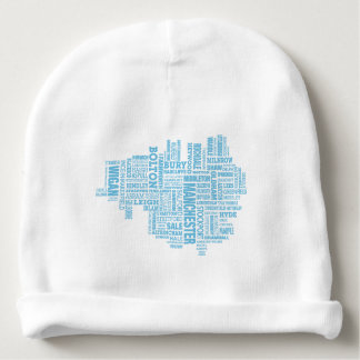 Gorro Para Bebê Tipo azul mapa de maior Manchester