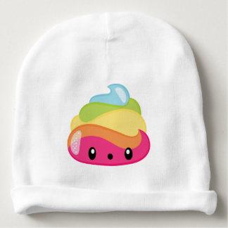 Gorro Para Bebê Tombadilho Emoji do arco-íris