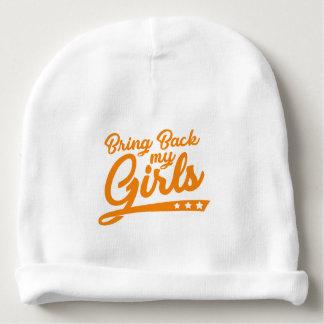 Gorro Para Bebê Traga para trás a minhas meninas o chapéu