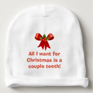 Gorro Para Bebê Tudo que eu quero para o Natal