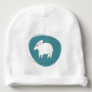 Gorro Para Bebê Um carneiro nos ovals