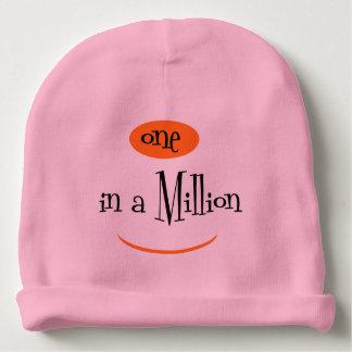 Gorro Para Bebê UM em MILHÃO rosa do Beanie do algodão