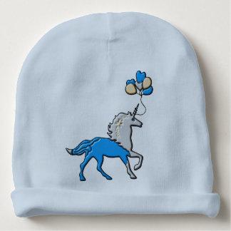 Gorro Para Bebê Unicórnio azul
