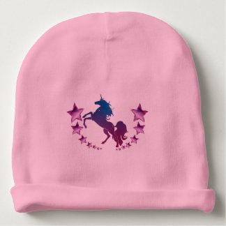 Gorro Para Bebê Unicórnio com estrelas