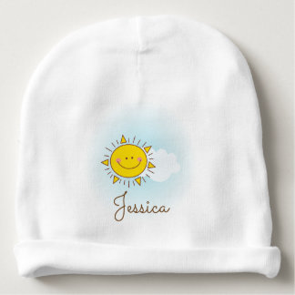 Gorro Para Bebê Unisex conhecido feito sob encomenda da luz do sol
