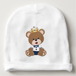 Gorro Para Bebê Ursinho Príncipe Marrom