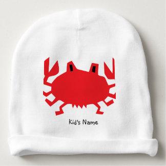 Gorro Para Bebê Vermelho do caranguejo do mar