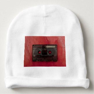 Gorro Para Bebê Vermelho do vintage da música da cassete de banda