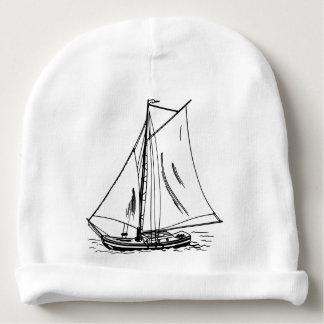 Gorro Para Bebê Vintage do desenho do veleiro