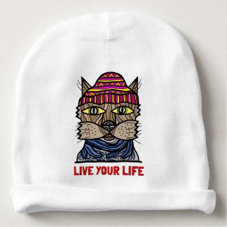 """Gorro Para Bebê """"Vive Beanie do algodão do bebê da sua vida"""""""