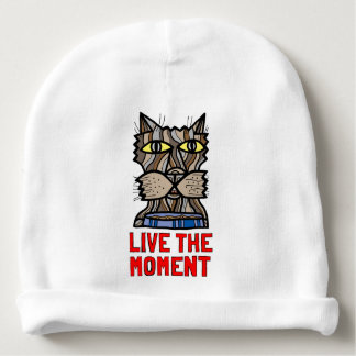 """Gorro Para Bebê """"Vive Beanie do algodão do bebê do momento"""""""