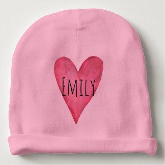 Gorro Para Bebê Você é menina cor-de-rosa customizável amada do
