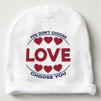 Gorro Para Bebê Você não escolhe o amor, amor escolhe-o