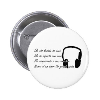 Gospel Music 1 Bóton Redondo 5.08cm