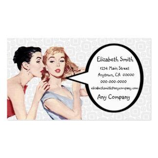 Gossipers retros das mulheres dos anos 50 cartões de visitas