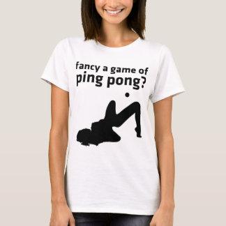 goste de um jogo do pong do sibilo? camiseta