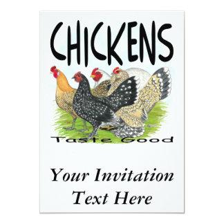 Gosto das galinhas bom! convite personalizado