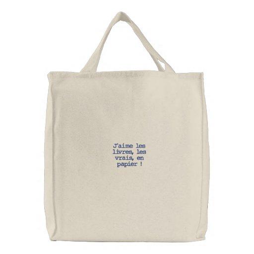 Gosto dos livros bolsas para compras
