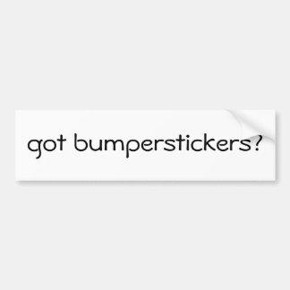 got bumperstickers? adesivo para carro