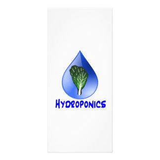 Gota azul do slogan da hidroponia com gráfico da a 10.16 x 22.86cm panfleto