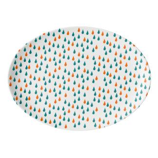 Gotas/33 bandeja do cupé da porcelana do cm x 23,5