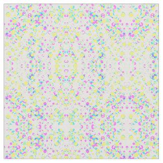 Gotas abstratas da cor no tecido