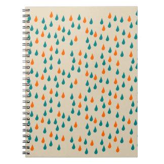 Gotas/caderno da foto (80 páginas B&W) Caderno