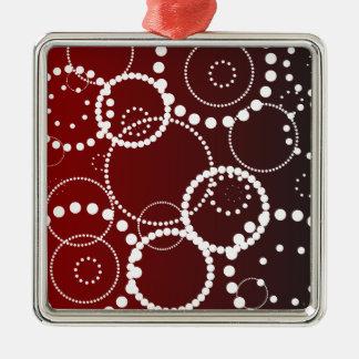 Gotas da água vermelha ornamento