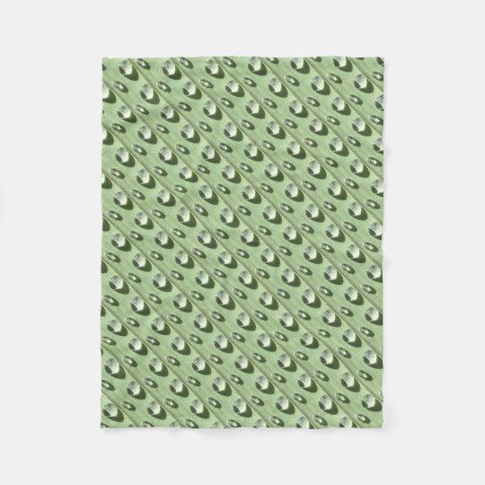 Gotas de orvalho cobertor de velo
