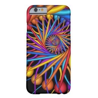 Gotas de orvalho coloridas, caso abstrato do capa barely there para iPhone 6