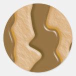 Gotejamentos - manteiga de amendoim do chocolate adesivos redondos