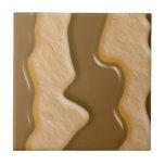 Gotejamentos - manteiga de amendoim do chocolate azulejo