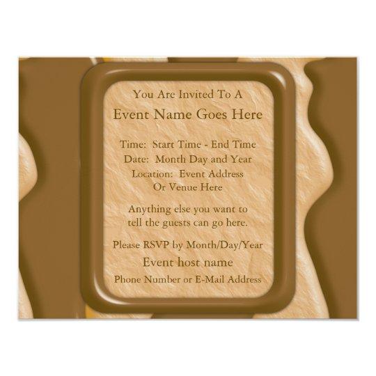 Gotejamentos - manteiga de amendoim do chocolate convite 10.79 x 13.97cm