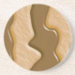Gotejamentos - manteiga de amendoim do chocolate porta copo