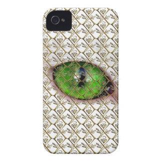Gótico floral do globo ocular original feminino capa para iPhone 4 Case-Mate