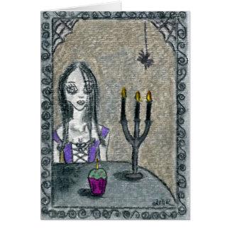 Gótico o Dia das Bruxas Cartão Comemorativo