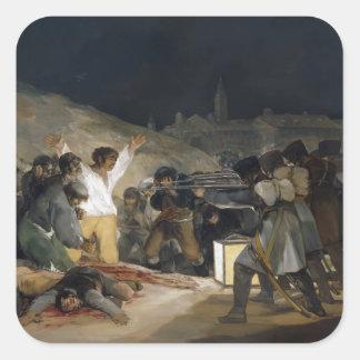 Goya-Execução de Francisco dos defensores de Adesivo Quadrado
