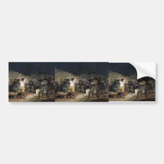 Goya-Execução de Francisco dos defensores de Madri Adesivo