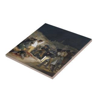 Goya-Execução de Francisco dos defensores de Madri Azulejos