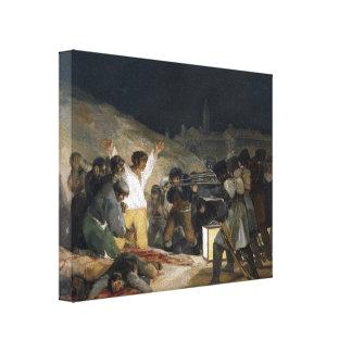 Goya-Execução de Francisco dos defensores de Madri Impressão De Canvas Esticada