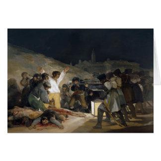 Goya-Execução de Francisco dos defensores de Madri Cartões