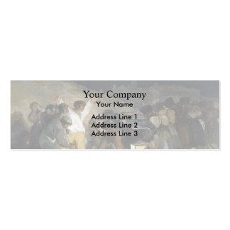 Goya-Execução de Francisco dos defensores de Madri Modelos Cartões De Visitas